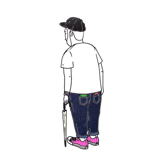 """梅雨だなぁ<span class=""""emoji emoji2614""""></span>️ #3nam #タケル #キャスケット #Tシャツ #チャンピオン #リーバイス #デニム #ジーンズ #タイメックス #トリコロール #コンバース #オールスター ..."""