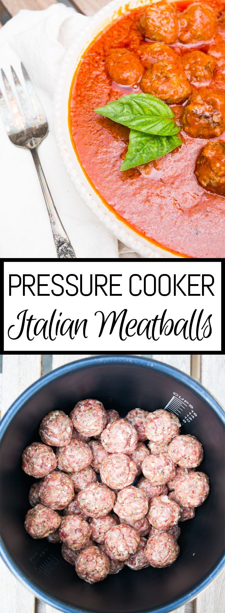 Pressure Cooker Italian Meatballs. The most tender meatballs you've ever had in your life and cooked in only 5 minutes!
