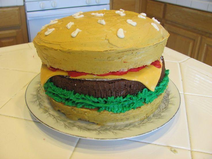 Cheeseburger Cake #howto #tutorial