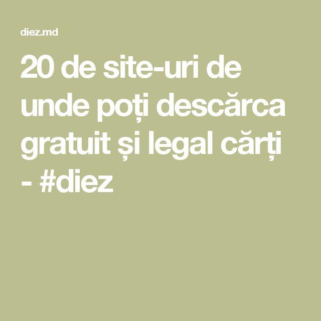 20 de site-uri de unde poți descărca gratuit și legal cărți - #diez
