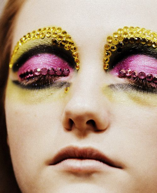 All hail Pat McGrath.Dior Makeup, Eye Makeup, Christian Dior, Dior Haute, Vlada Roslyakova, S S 2008, Couture S S, Bling Bling, Haute Couture