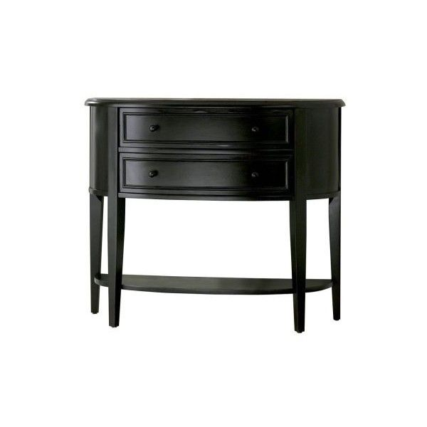 powell furniture antique black demilune black consolesofa table liked on