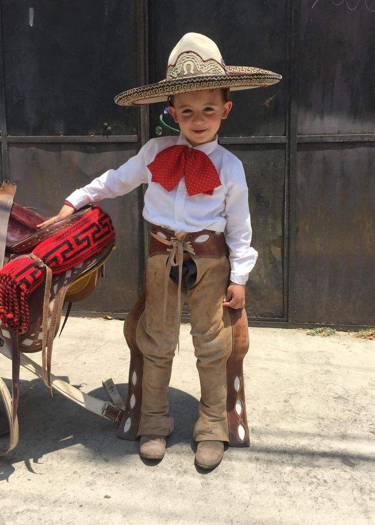 Mexican Charrito with chaps Mexican child rider