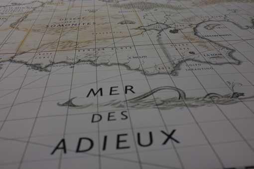 Mer des Adieux, carte des Cités obscures...