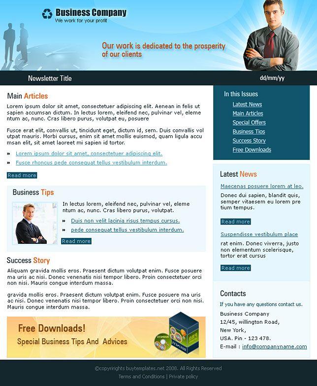 Business Newsletter Templates template Newsletter design