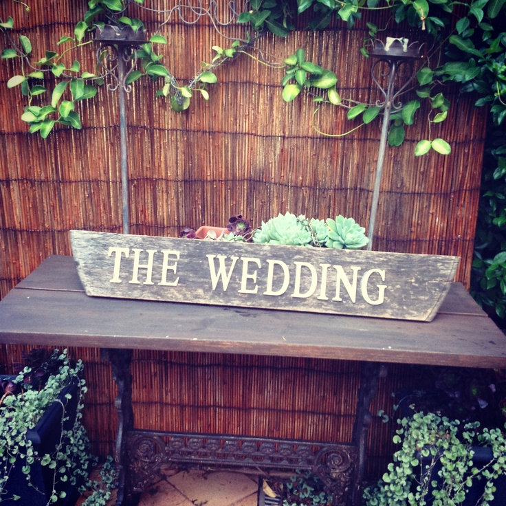 Rustic wedding sign for hire $30 by chiltons antiques