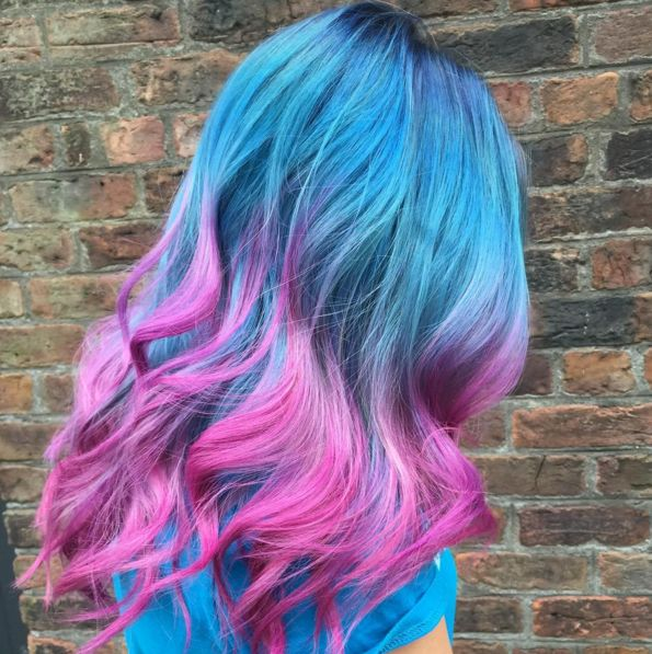 capelli color pastello #lightblu #pink #wawy