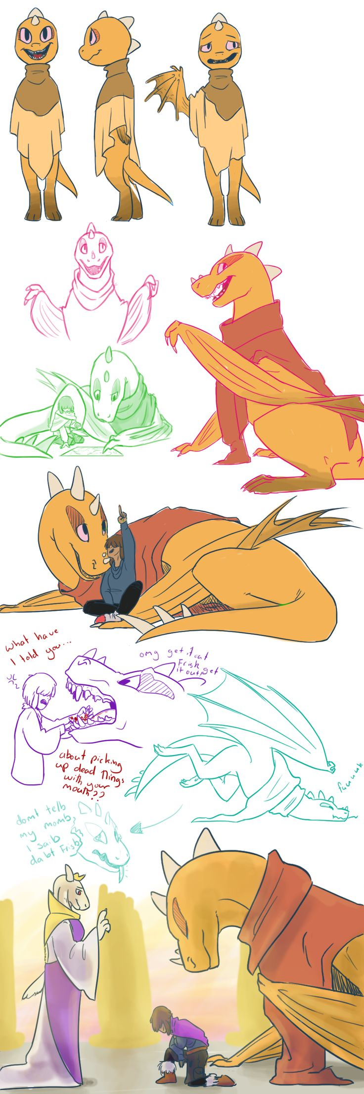 Undertale sketches_001 by QueensDaughters on DeviantArt