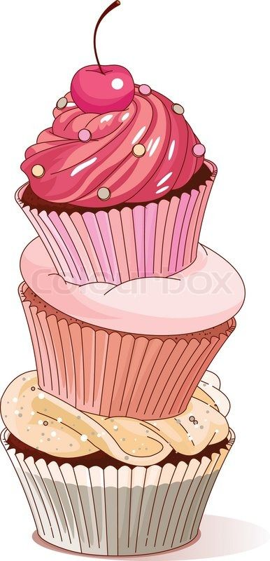 Stock vector ✓ 11 M images ✓ High quality images for web & print | Pyramid of cupcakes elegance design                                                                                                                                                                                 Más