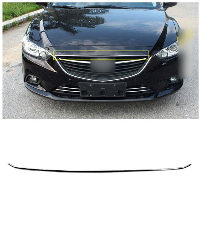 For Mazda 6 M6 Atenza 2013-2015 ABS Chrome Front Hood Decorative Cover Trim Exterior Chromium Styling Parts 1pcs #Affiliate