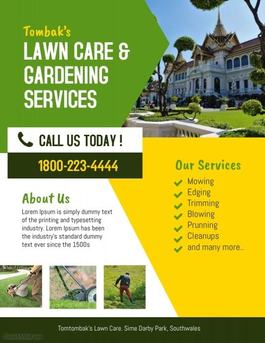 Lawn  landscaping service flyer Business Flyer Template