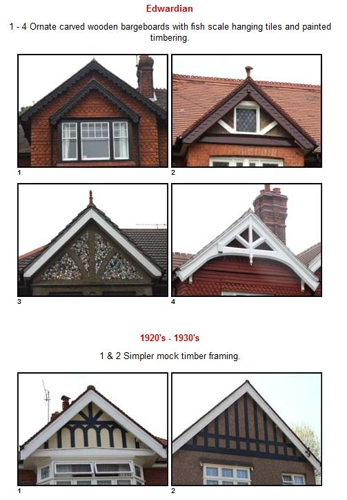 Edwardian Gables typical of Federation houses