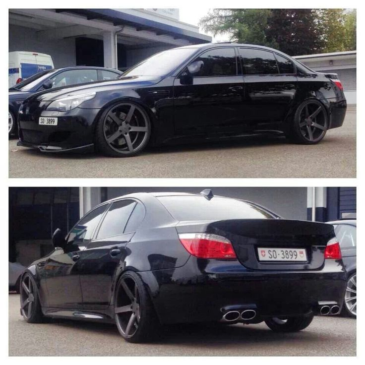 BMW E60 M5 black on Vossen wheels