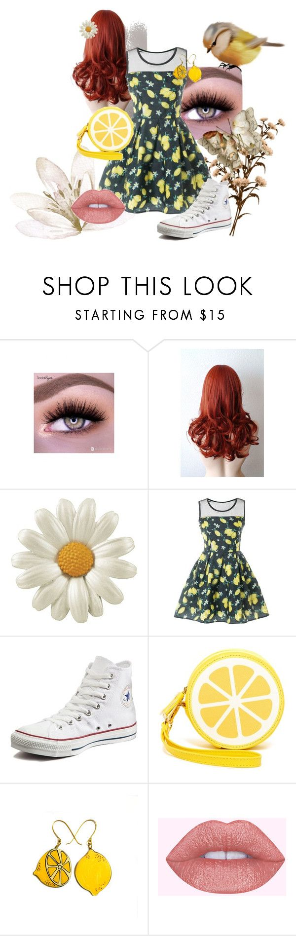 """Rode"" by victoriaismine ❤ liked on Polyvore featuring Converse and Shiraleah"