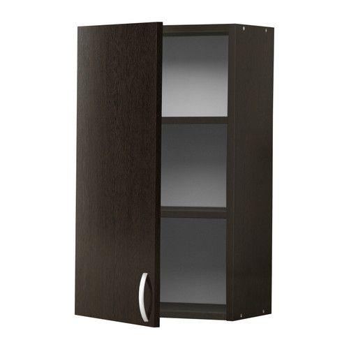 IKEA - АЛЬБРУ, Навесной шкаф с дверцей, 40x70 см, , Регулируйте пространство для хранения в соответствии с вашими потребностями, используя 2 съемные полки.Каркас шкафа, дверцы, фронтальная и отделочная панель ящика покрыты меламином, обеспечивают простую в уходе поверхность, устойчивую к появлению царапин.Двери можно навешивать на правую и левую сторону.Вы легко установите дверцу в правильное положение, так как петли регулируются по высоте, глубине и ширине.