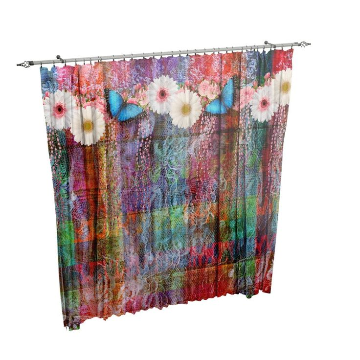 Boho Chic Curtains Purple Hippie Design  Entire product is made of a soft 100% polyester fabric .Our unique design will appear on the front side, back side is white. Each window curtain has a pole loop, approximately 2 wide at the top, has all edges hemmed for durability, and blocks approximately 50% of light. Available in two sizes Priced as a set. (two panels each 42  wide and your selected length)  We can do custom sizes , message us for a quote.   Sheers shown in the photo are not…