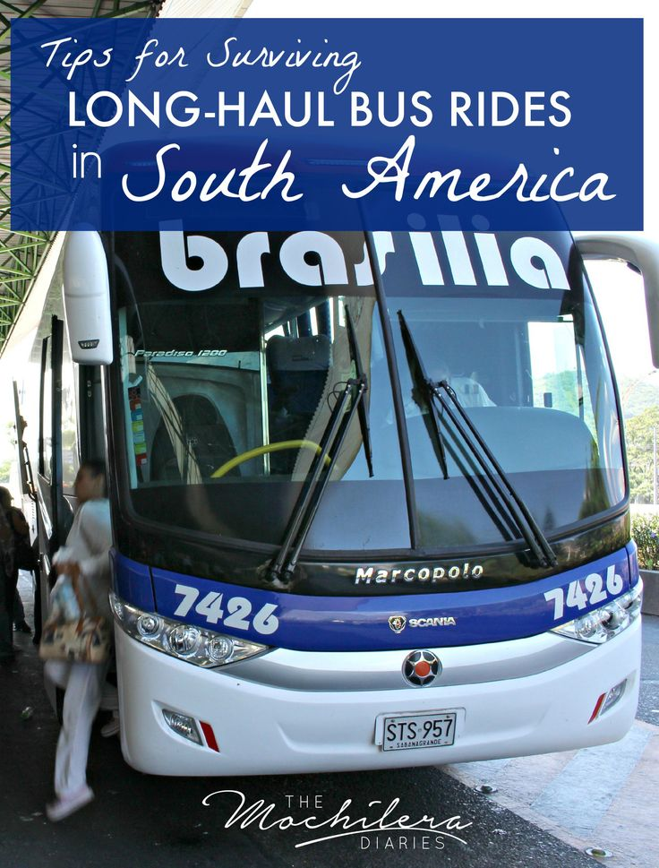 Traveling through South America overland?  Read these helpful tips on how to survive those long-haul overnight bus rides.