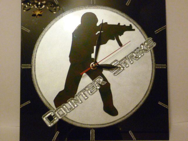 Часы, роспись