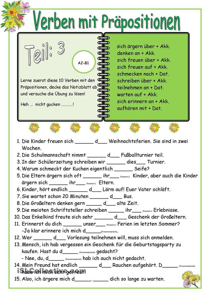 153 best Präpositionen images on Pinterest | Learn german, Languages ...