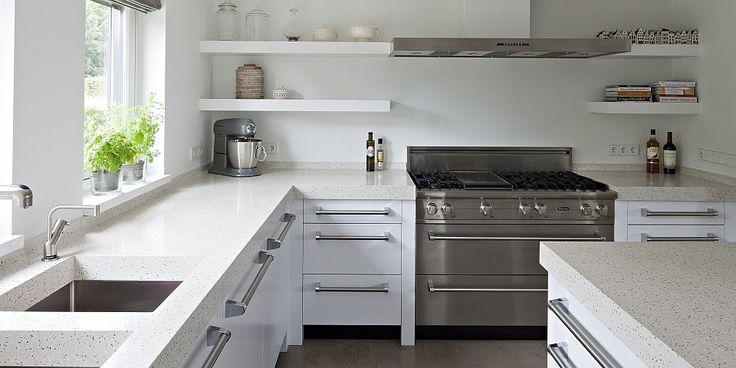 Lichte keuken zonder bovenkasten keukens pinterest - Geloof lichte keuken ...