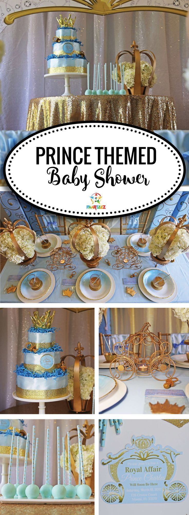 Prince Themed Baby Shower Ideas. Details and more photos at paarteez.com.