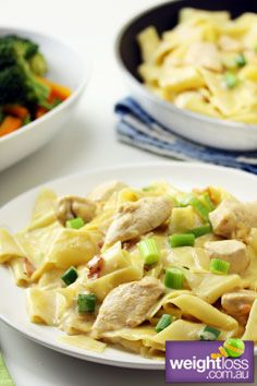 Healthy Dinner Recipes: Creamy Chicken Pappardelle.