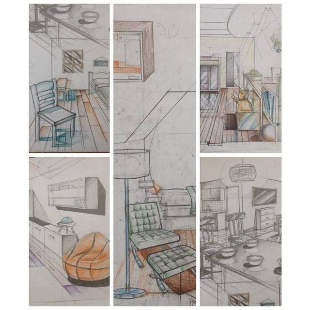 54 best technical drawing images on pinterest for Interior design drawing tips