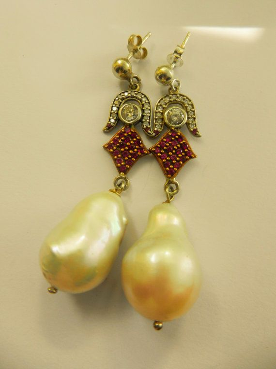 Exquisite Liberty Style genuine baroque pearl & by RAKcreations