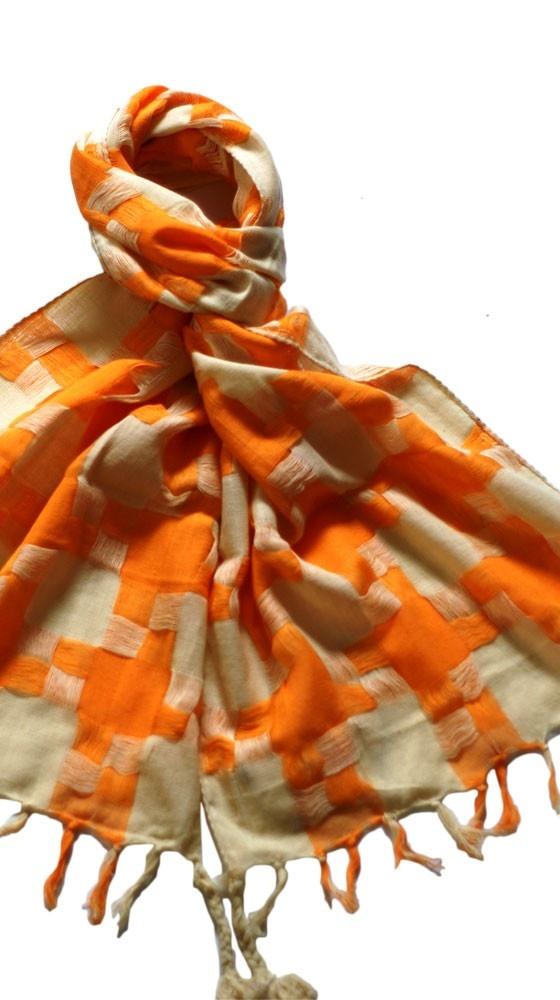 Tangerine Big Hound's Tooth Scraf: Style, Random, Big Orange, Fashion Accessories, Scarfs, Wear, Things Orange, Big Hound