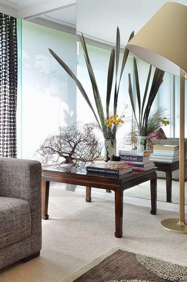 Circular Quay Harbour Apartment - Swan Studio Interior Design | apartment living room artimede floor lamp