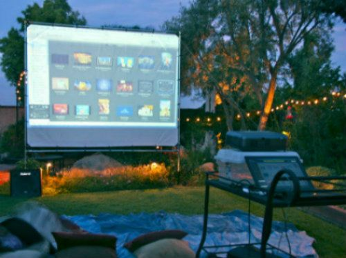 How To Build Your Own Outdoor Theater Outdoor Movie Night Extravaganza Pinterest Outdoor