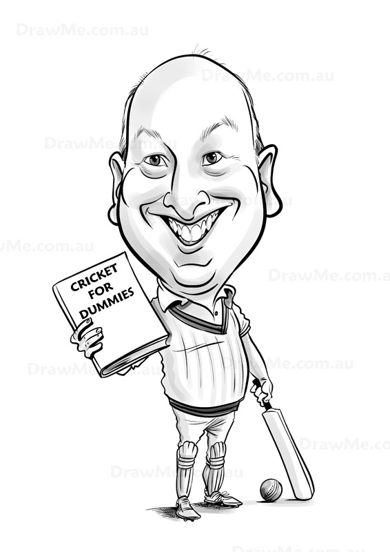 www.DrawMe.com.au caricatures. Part of the 'For Dummies' series. Any theme required. Stunning photo likeness.