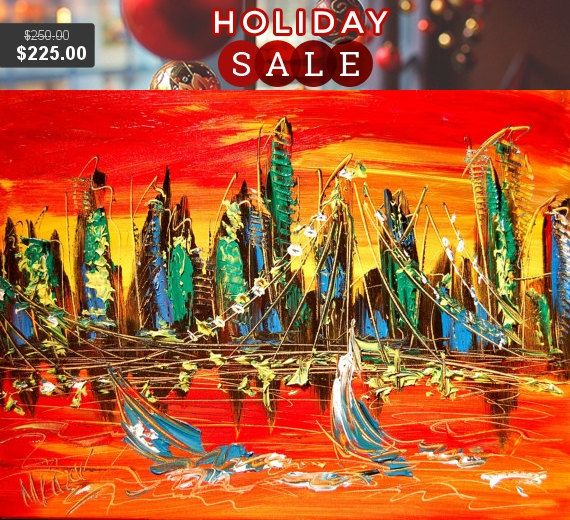 SALE LARGE ABSTRACT  Large  Modern  Gallery Artist by kazavart