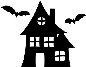 halloween haunted houses haunted houses and silhouette on. Black Bedroom Furniture Sets. Home Design Ideas