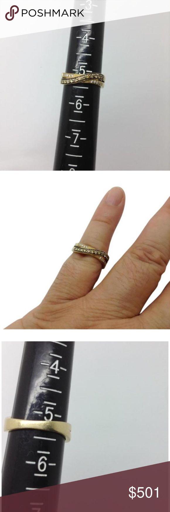 LeVian 14k gold chocolate & Vanilla diamond ring genuine diamond crossover ring LeVian Jewelry