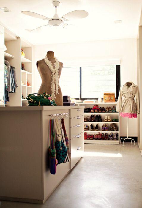 Simple, homey closet