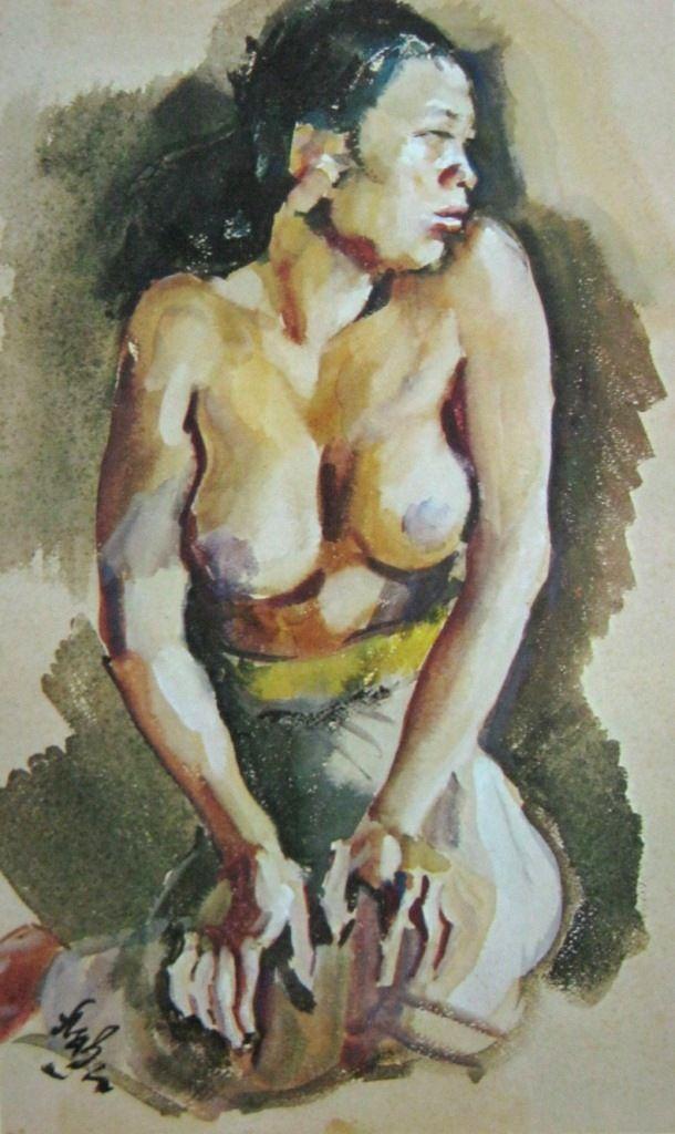 Rolland Strasser - Wanita Bali duduk
