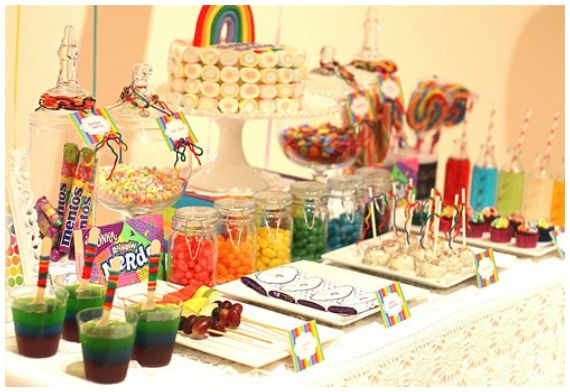 Rainbow Party Ideas #KidsParties #Rainbow