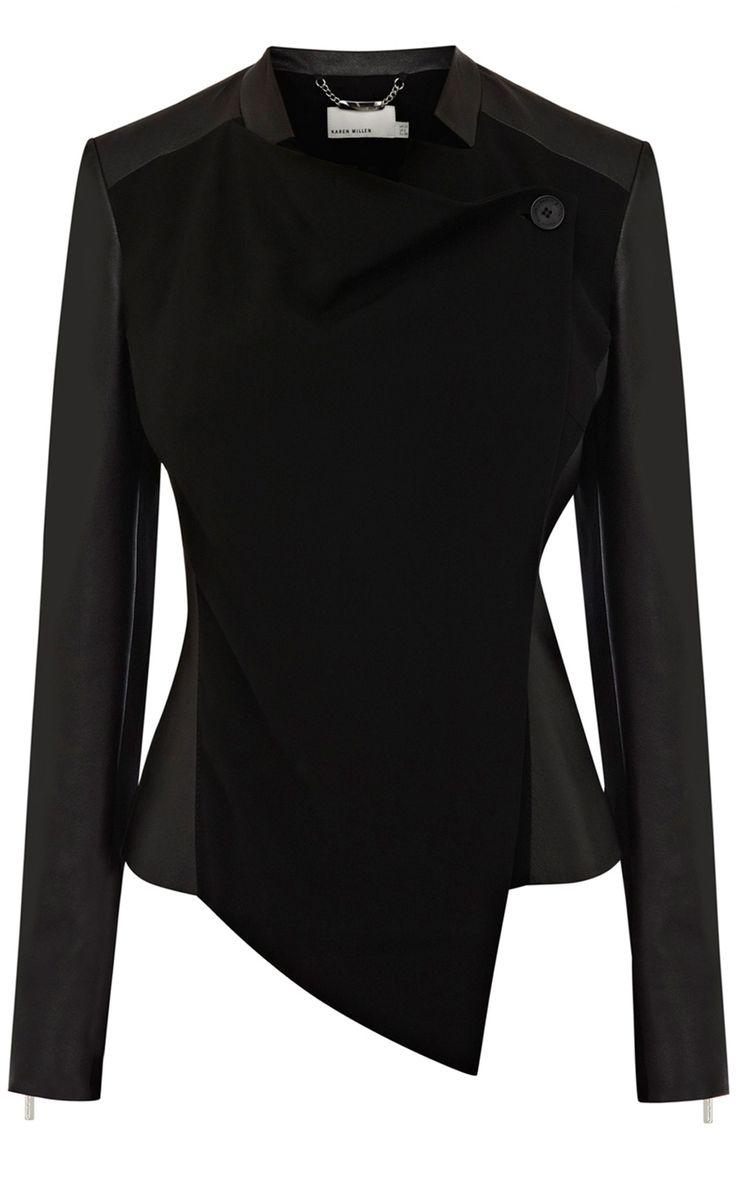 Faux leather jacket   Luxury Women's outerwear   Karen Millen