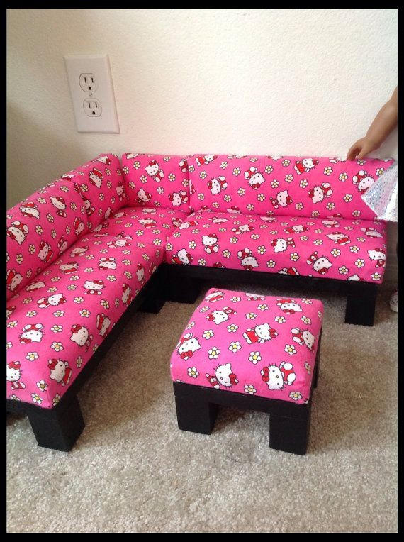 Hello Kitty Print Sectional/Sofa Furniture Set with by crixina