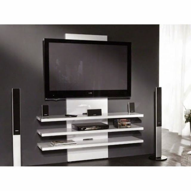 tv accroch e au mur id es d coration int rieure. Black Bedroom Furniture Sets. Home Design Ideas