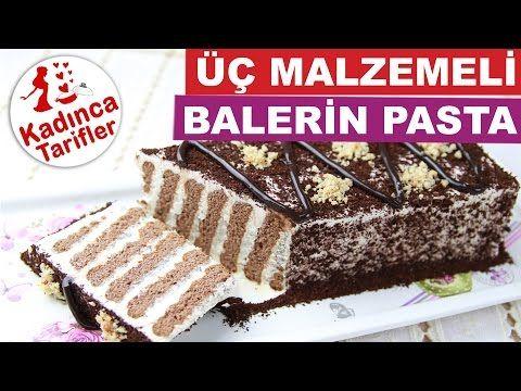 Üç Malzemeli Balerin Pasta Tarifi Videosu   Kadınca Tarifler   Kolay ve Nefis Yemek Tarifleri Sitesi - Oktay Usta