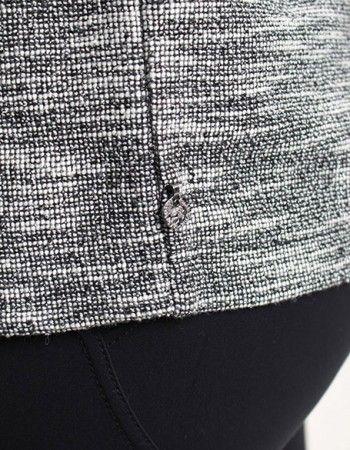 Maison Scotch White/Black Sparkle Sweat Blazer | Accent Clothing