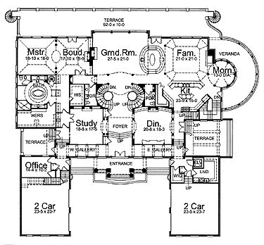 40 best images about home floorplans on pinterest 3 car for Neoclassical house plans