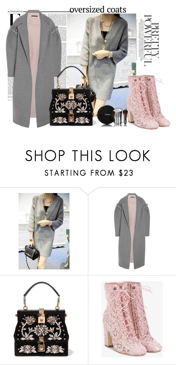 """""""Oversized Coats"""" by autumn-soul ❤ liked on Polyvore featuring Nicki Minaj, Mother of Pearl, Dolce&Gabbana, Laurence Dacade, Chanel and oversizedcoats"""
