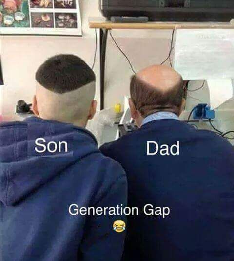 Generation Gap Son with his dad..... - more at http://www.thelolempire.com