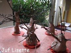 Els arbres de la Lluïsa. S'hi poden posar fulles de plastilina!!!