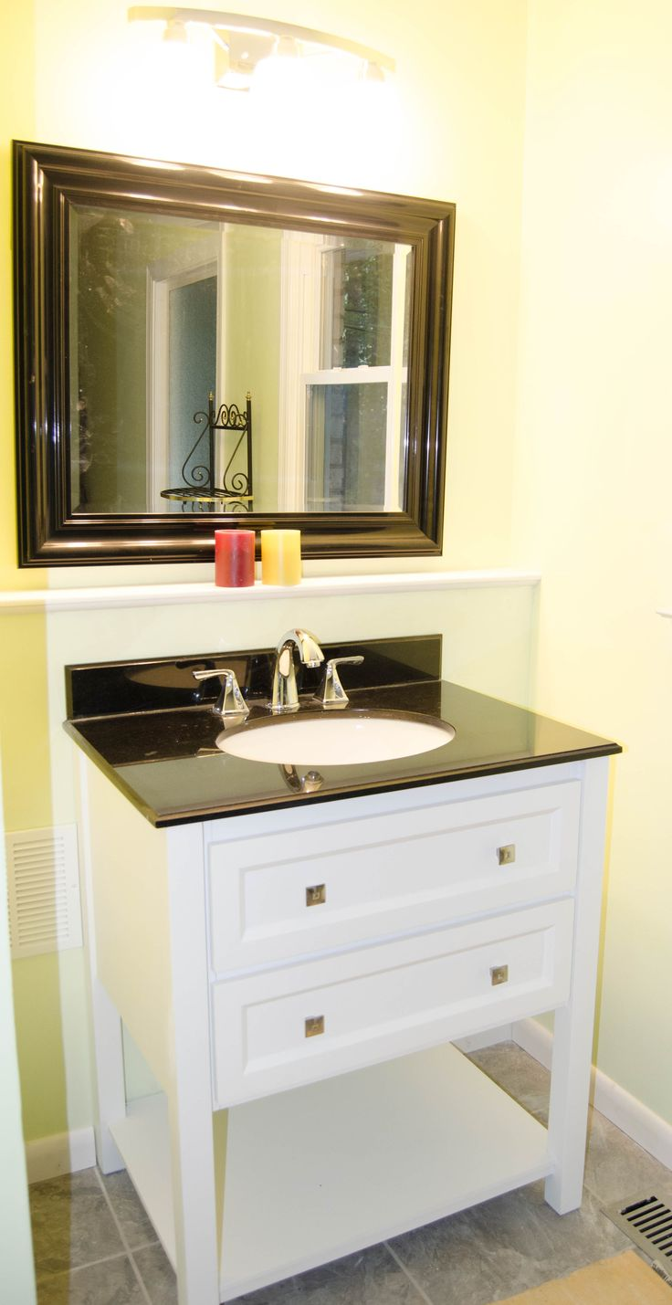 This Small Vanity Console Sink Is A Great Way To Utilize A Small Space See More Bathroom