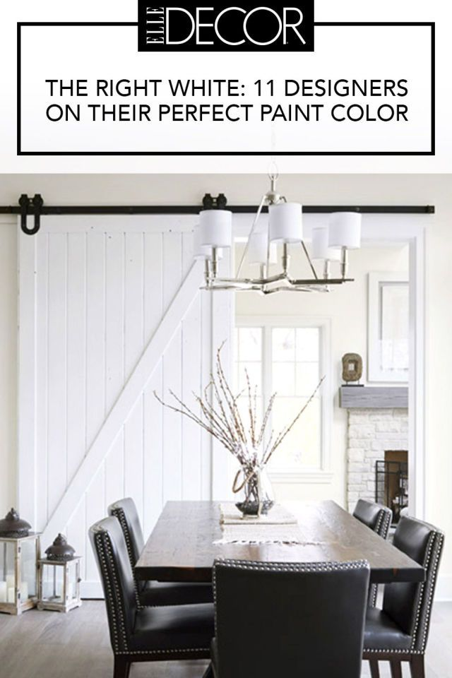 Designers reveal their go-to white paint.