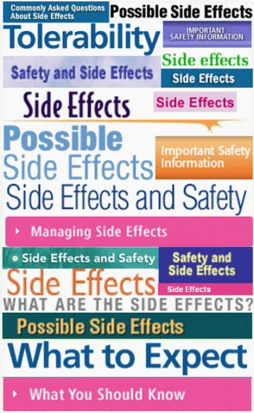 Side Effects Made Simple: Shopper's Guide to 22 Worthless Drugs Click on drug name to view complete list of side effects (aka adverse events) sorted alphabetically for your shopping convenience.